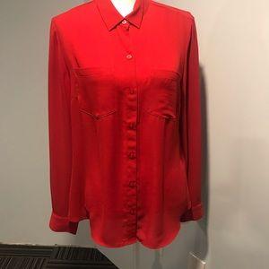 White House black market red shirt / size 12